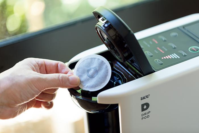 スタートボタンを押して60秒後に プロが淹れたコーヒーが完成。