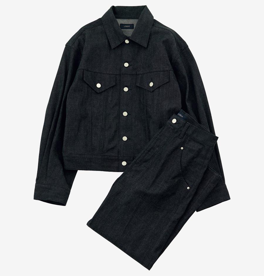 LOEFF denim jacket & pants