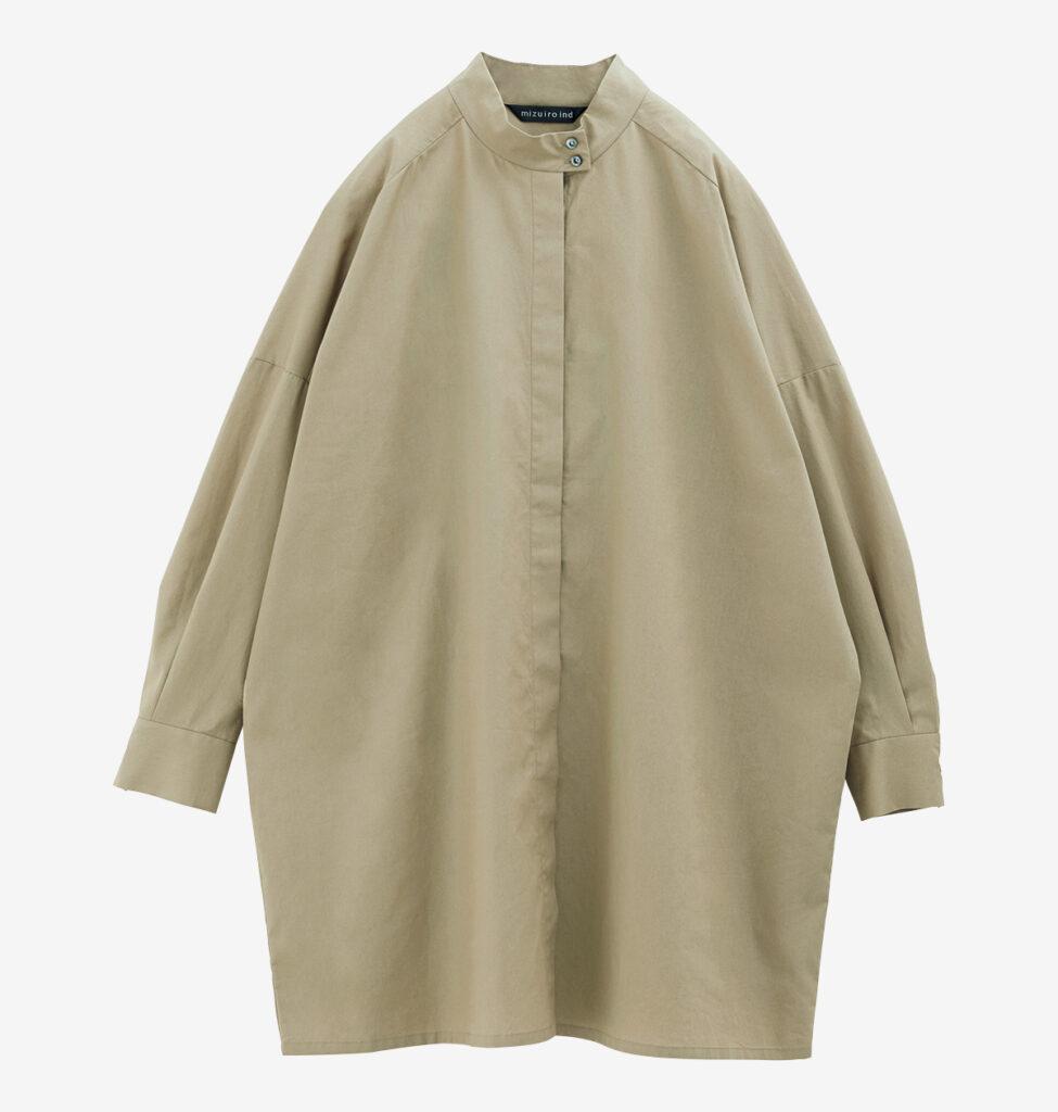 MIZUIRO IND stand collar long shirt
