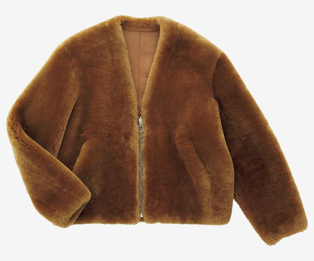 SPRUNG × RON HERMAN mouton jacket
